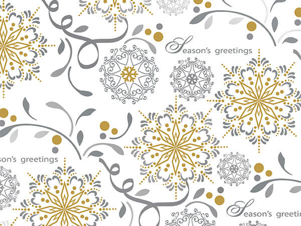 "Crystal Christmas  30"" x 833' Full Ream Gift Wrap (Metallized)"