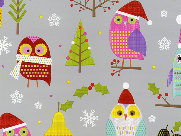 "Hoot For Fruit  30"" x 417' Half Ream Roll Gift Wrap"