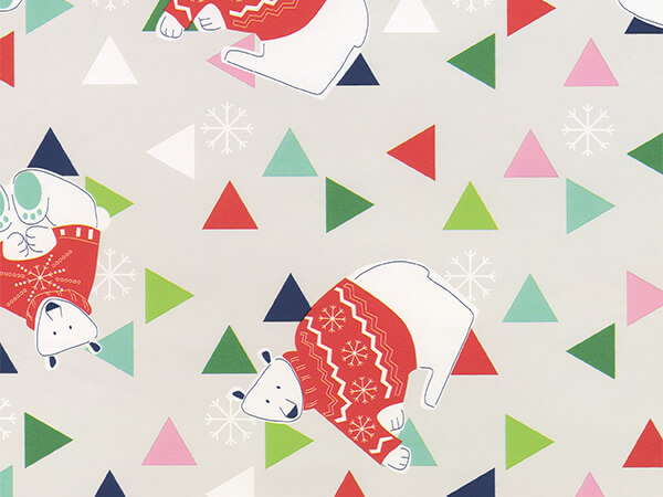 """The Artic Triangle  30"""" x 417' Half Ream Roll Gift Wrap"""