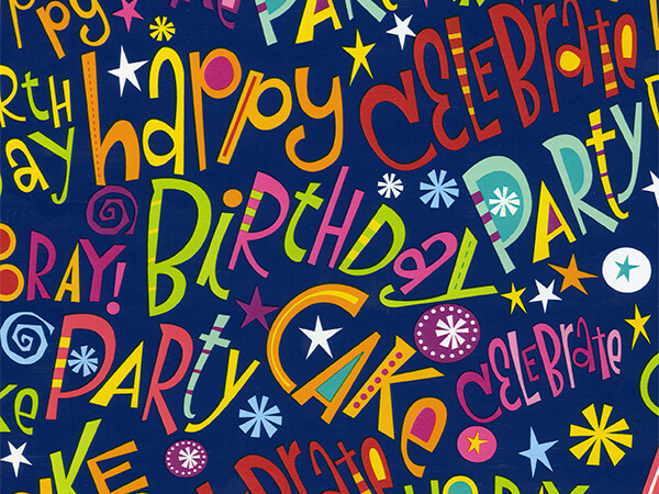 """Exclamation Celebration  26"""" x 417' Half Ream Roll Gift Wrap"""