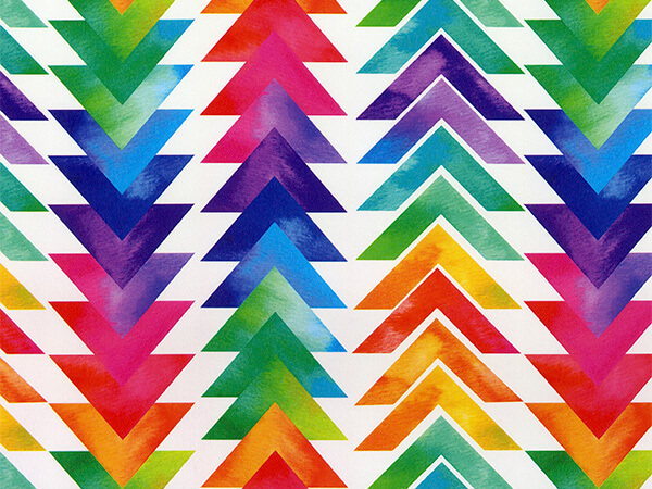 """Tribal Triangles 18"""" x 833' Full Ream Roll Gift Wrap"""