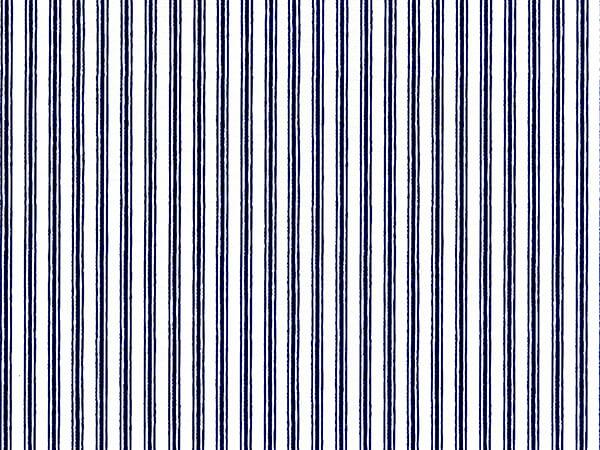 "Navy Blue Ticking Stripe 24"" x 417' Half Ream Roll Gift Wrap"