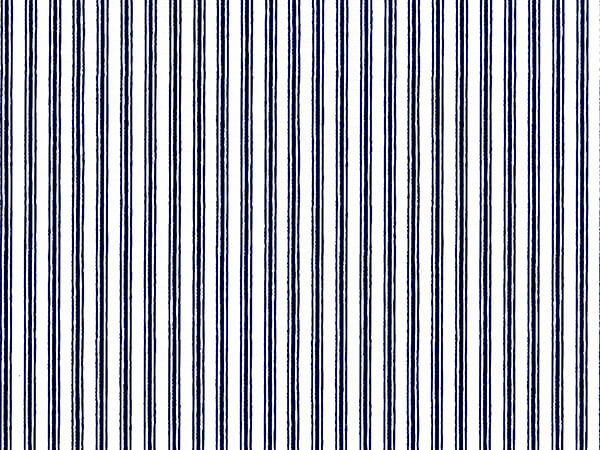 "Navy Blue Ticking Stripe 26"" x 417' Half Ream Roll Gift Wrap"