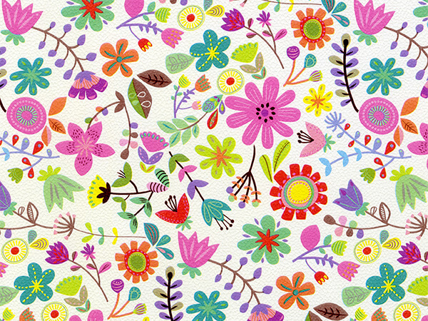 """Spring has Sprung  30"""" x 833' Full Ream Roll Gift Wrap"""