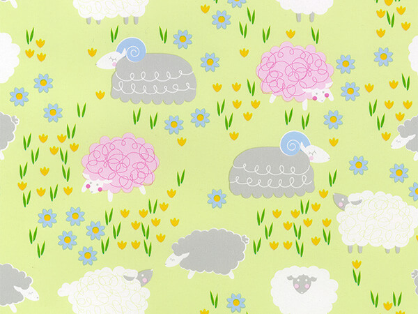 "Ewe Look Marvelous  24"" x 417' Half Ream Roll Gift Wrap"