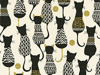 Cat's Pajamas Gift Wrap