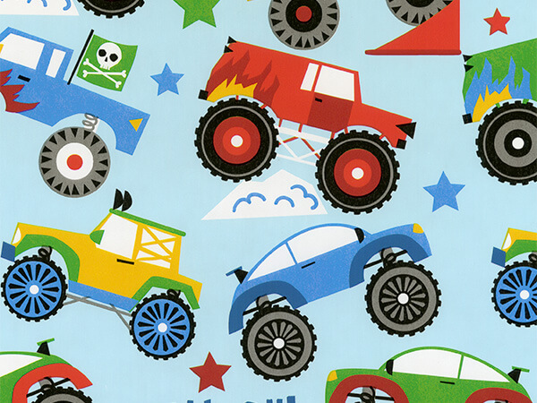 "Monster Truck  24"" x 833' Full Ream Roll Gift Wrap"