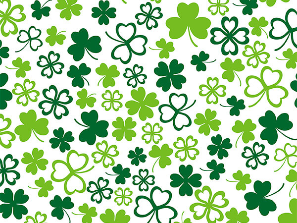 """Hearts of Clover  30"""" x 417' Half Ream Roll Gift Wrap"""