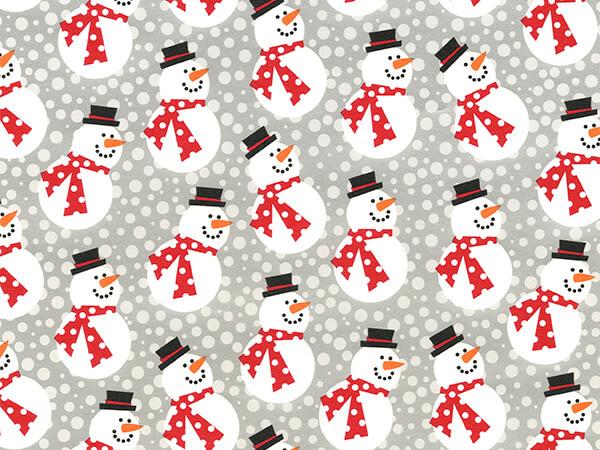 "Mini Snowmen with Red Scarfs Gift Wrap, 26"" x 417', Half Ream Roll"
