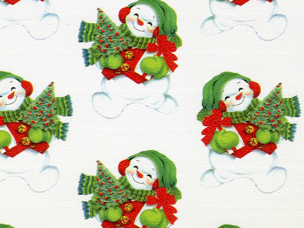"Let It Snow, Man!  18"" x 417' Half Ream Roll Gift Wrap"
