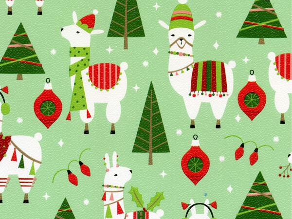 """Dolly Llama  24"""" x 417' Half Ream Roll Gift Wrap"""