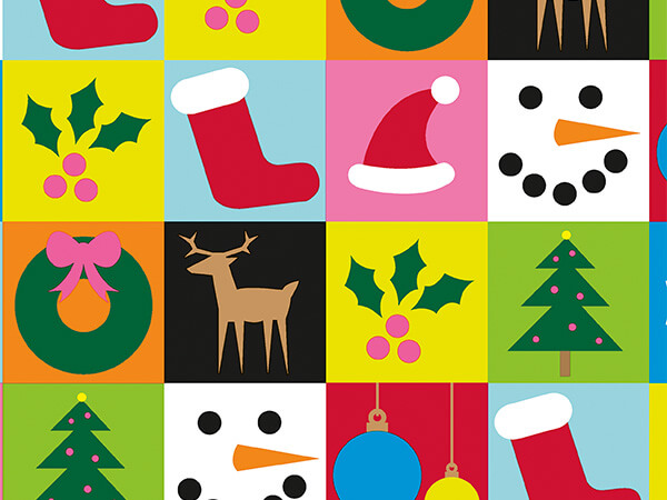 """Christmas Block Party 24"""" x 417' Half Ream Roll Gift Wrap"""