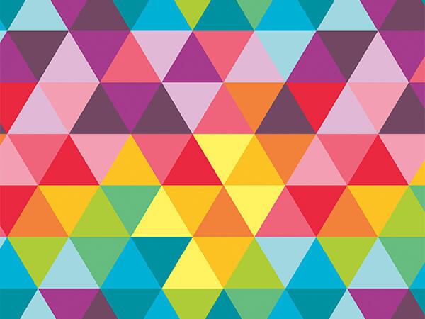 "Bright Triangle Super Gloss 24"" x 8 Full Ream Roll Gift Wrap"