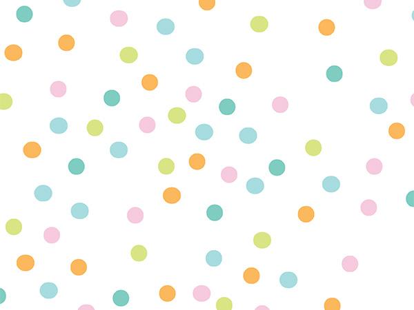 """Confetti Dots 24"""" x 417' Half Ream Roll Gift Wrap"""