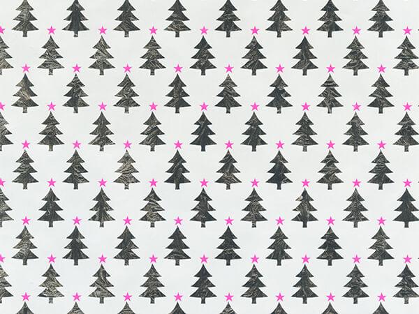 "Neon Star Trees 24"" x 417' Half Ream Gift Wrap (Metallized)"