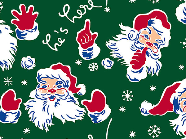 "Vintage Santa 26"" x 833' Full Ream Roll Gift Wrap"