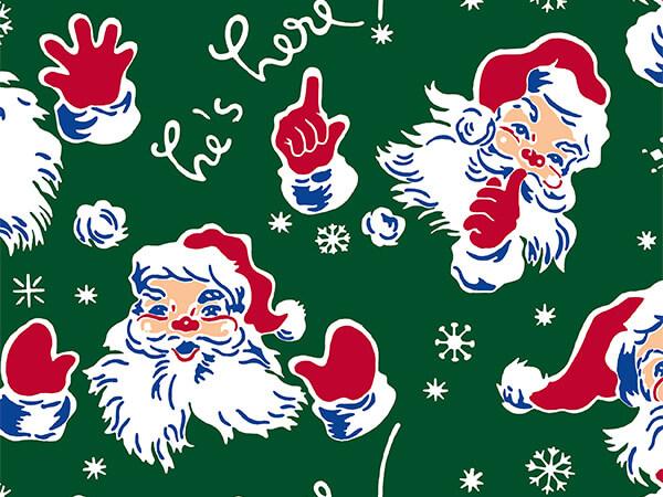 "Vintage Santa 30"" x 417' Half Ream Roll Gift Wrap"