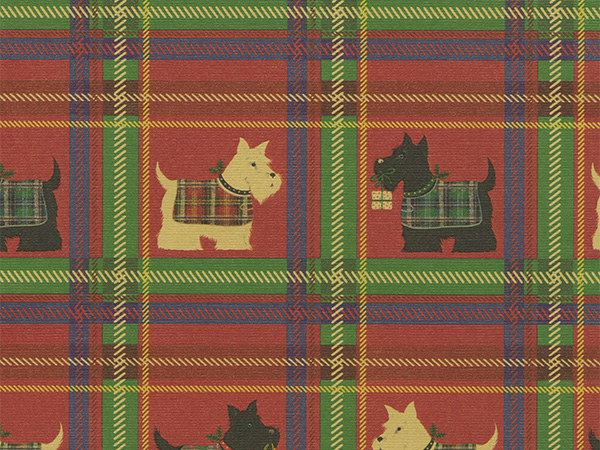 "Scotty Plaid 30"" x 417' Half Ream Roll Gift Wrap"