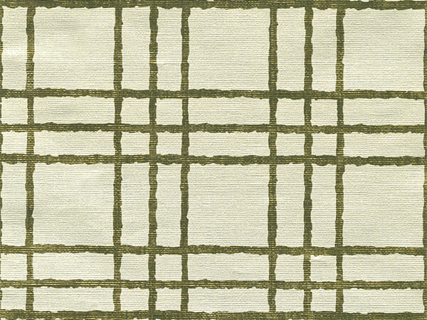 """Silver/Gold Simple Plaid 26"""" x 417' Half Ream Gift Wrap (Metallized)"""