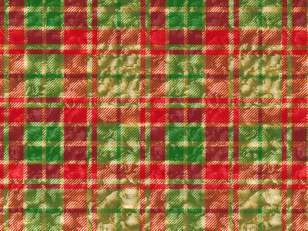 "Christmas Plaid 24"" x 417' Half Ream Gift Wrap (Metallized)"