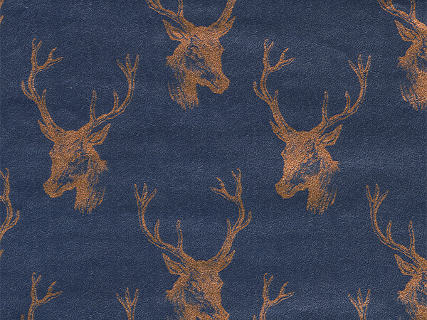 "Copper Draft Deer 18"" x 417' Half Ream Gift Wrap (Metallized)"