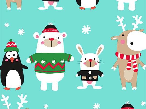 """Creature Comforts 26"""" x 833' Full Ream Roll Gift Wrap"""