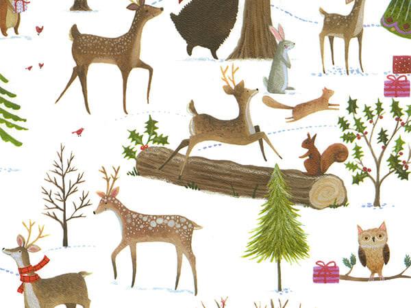 "Christmas Woods 24"" x 833' Full Ream Roll Gift Wrap"
