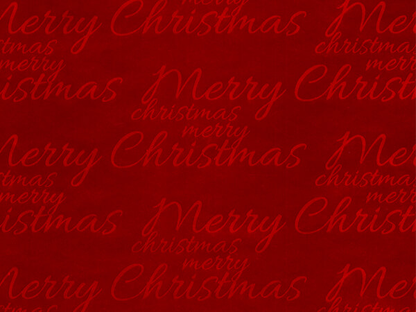 """Glossy Red Merry Christmas Wrapping Paper, 26"""" x 833', Full Ream Roll"""