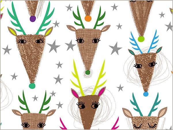 "Deer Abby Embossed Gift Wrap 30"" x 417', Half Ream Roll"