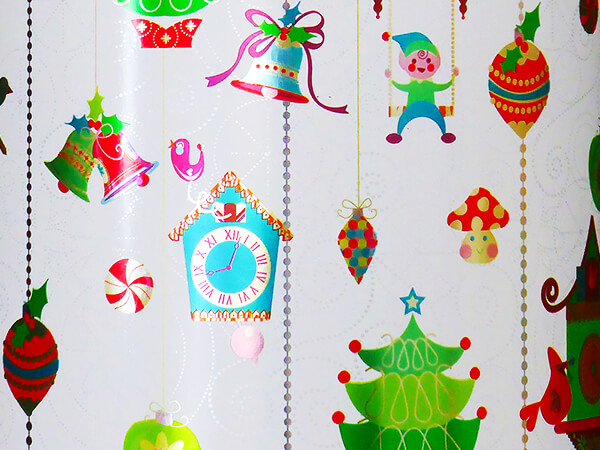 """Christmas Coo Coo Clocks Gift Wrap 26"""" x 833', Full Ream Roll"""