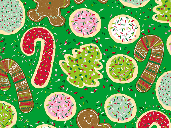 """Toss Your Cookies Wrapping Paper 30"""" x 417', Half Ream Roll"""