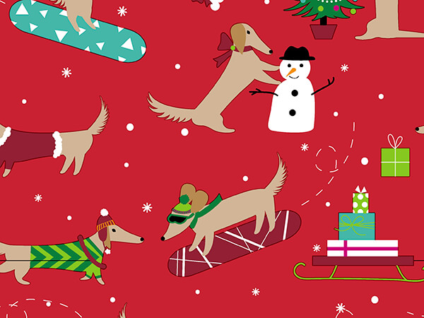 """A Dog's Holiday Wrapping Paper 30"""" x 417', Half Ream Roll"""