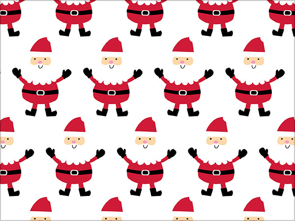 """Touchdown Santa Wrapping Paper 24"""" x 417', Half Ream Roll"""