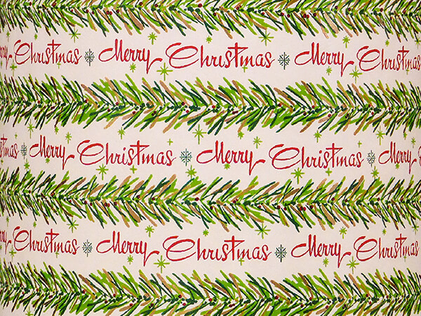 """Garland Greetings Embossed Wrapping Paper, 24"""" x 417', Half Ream Roll"""