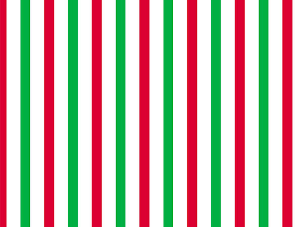"""Red and Green Striped Wrapping Paper, 24"""" x 833', Full Ream Roll"""