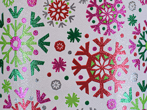 """Super Cool Snowflake Wrapping Paper 24"""" x 417', Half Ream Roll"""