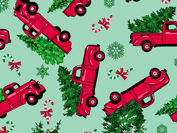 """Evergreen Delivery Wrapping Paper 24"""" x 417', Half Ream Roll"""