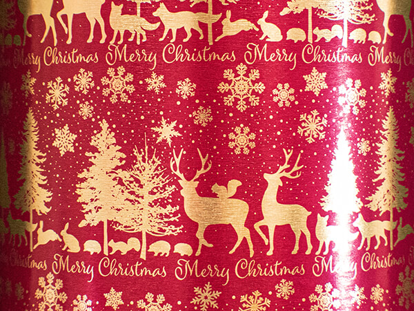 """Christmas Promenade Wrapping Paper 24"""" x 417', Half Ream Roll"""