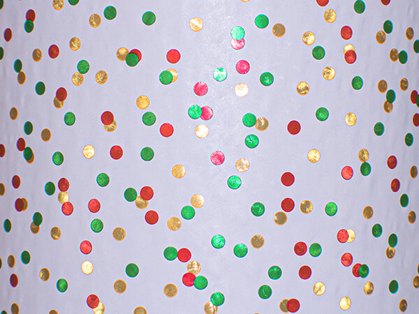 """Christmas Confetti Wrapping Paper 30"""" x 417', Half Ream Roll"""