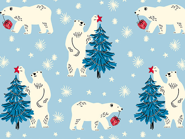 """Bearing Gifts Wrapping Paper 24"""" x 417', Half Ream Roll"""