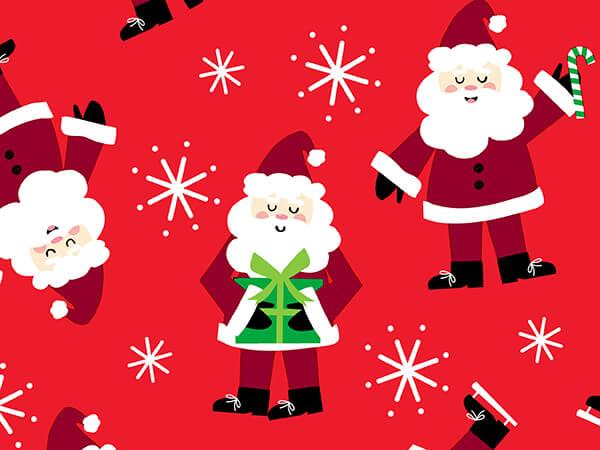 "Santa Wrapping Paper 30"" x 417', Half Ream Roll"