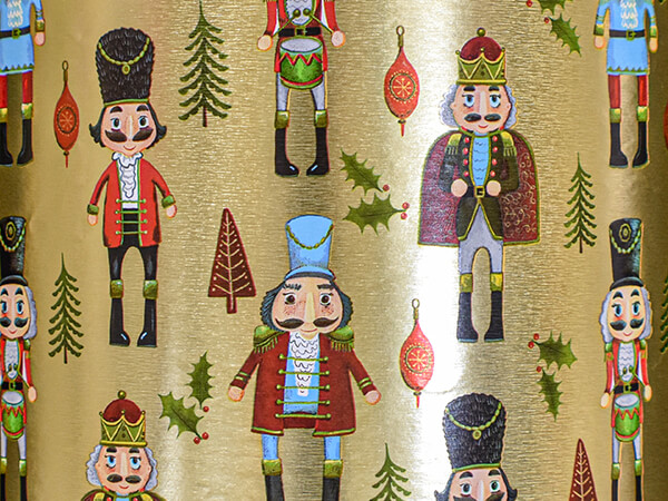 """Nutcrackers Wrapping Paper 24"""" x 833', Full Ream Roll"""