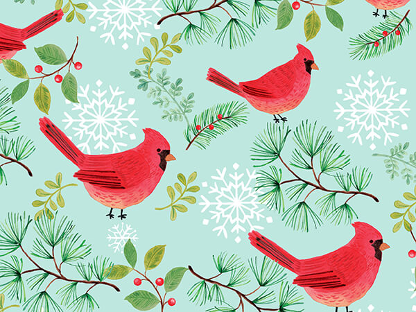 """Cardinal Collage Wrapping Paper 30"""" x 833', Full Ream Roll"""