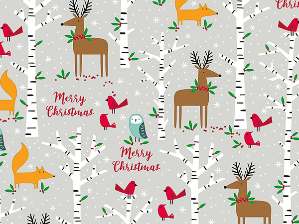 """Christmas Nights Wrapping Paper 30"""" x 833', Full Ream Roll"""