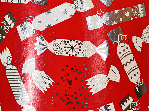 """Party Poppers Wrapping Paper 24"""" x 417', Half Ream Roll"""