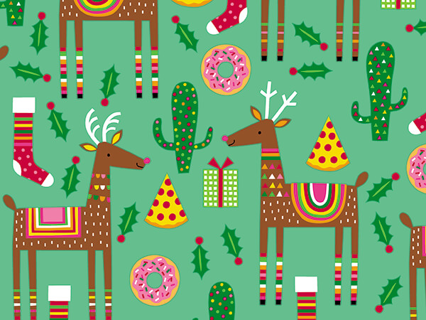 """Holiday Hodge Podge Wrapping Paper 24"""" x 417', Half Ream Roll"""