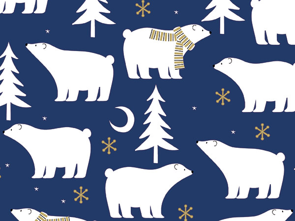 """Polar Nights Wrapping Paper 30"""" x 833', Full Ream Roll"""