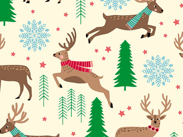 """Stag Party Wrapping Paper 30"""" x 417', Half Ream Roll"""