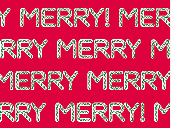 """Sweet Merry Wrapping Paper 24"""" x 417', Half Ream Roll"""