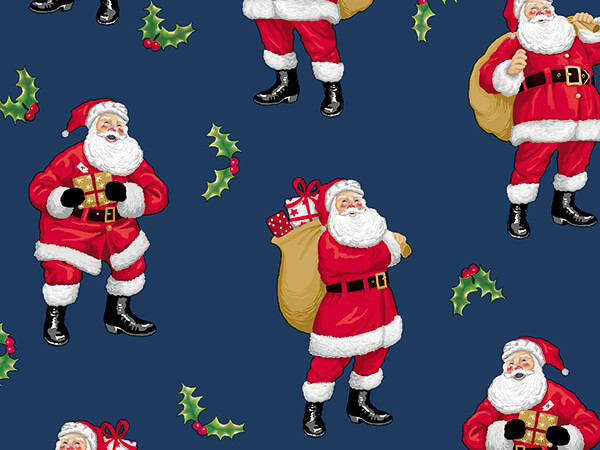 """Jolly Old Soul Wrapping Paper 26"""" x 417', Half Ream Roll"""